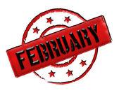 Stamp - FEBRUARY — Stock Photo