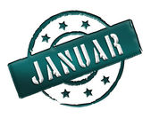 Stamp - JANUAR — Stock Photo