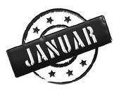 Stamp - JANUAR — Stock Photo
