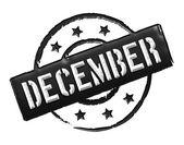 Stamp - DECEMBER — Stock Photo