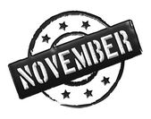 Stamp - NOVEMBER — Stock Photo