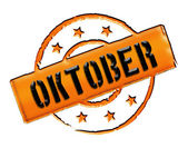 Stamp - OKTOBER — Stock Photo