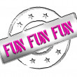 Stock Photo: Stamp - FUN FUN FUN