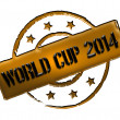 Stamp - World Cup 2014 — Stock Photo #11027549