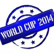 Stock Photo: Stamp - World Cup 2014
