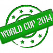 Royalty-Free Stock Photo: Stamp - World Cup 2014