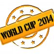 Stamp - World Cup 2014 — Stock Photo