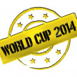 Stamp - World Cup 2014 - Stock Photo