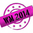 Stamp - WM 2014 — Stock Photo