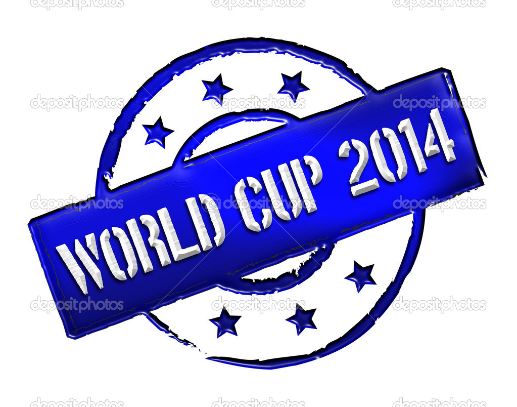 Sign, symbol, stamp or icon for your presentation, for websites and many more named World Cup 2014 — Stock Photo #11027767