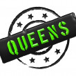 Stamp - QUEENS — Stock Photo