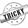 Stamp - TRICKY — Stock Photo
