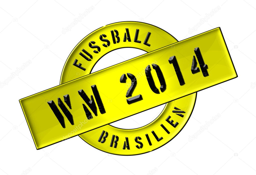Illustration of the World Cup 2014 in Brazil as Banner for your presentation, website, inviting... — Stock Photo #11073082