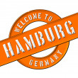 WELCOME TO HAMBURG — Stock Photo