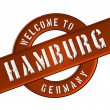 Stock Photo: WELCOME TO HAMBURG