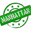 Stamp - MANHATTAN — Stock Photo