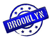 Stamp - BROOKLYN — Stock Photo