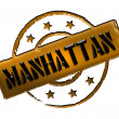 Stock Photo: Stamp - MANHATTAN