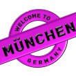 WELCOME TO MÜNCHEN — Stock Photo