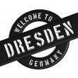 WELCOME TO DRESDEN — Stock Photo