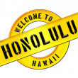 WELCOME TO HONOLULU — Stock Photo