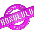 WELCOME TO HONOLULU — Stockfoto