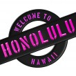 WELCOME TO HONOLULU — Foto de Stock