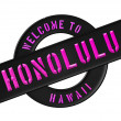WELCOME TO HONOLULU — Stock fotografie