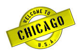 WELCOME TO CHICAGO — Stock Photo