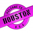 WELCOME TO HOUSTON — 图库照片