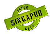 Zelené město singapur — Stock fotografie