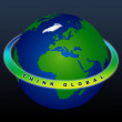Planet Earth - THINK GLOBAL - Stock Photo