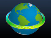Planet Earth - ONLINE — Stock Photo