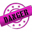 Stamp - DANGER - Stock Photo