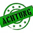 Stamp - ACHTUNG - Stock Photo