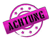 Stamp - ACHTUNG — Stock Photo