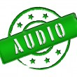 Stamp - AUDIO — Stock Photo #11915509