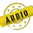 Stamp - AUDIO — Stock Photo
