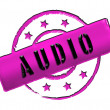Stamp - AUDIO — Stock Photo #11915537
