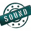 Stamp - SOUND — Stock Photo