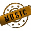 Stamp - MUSIC — Stockfoto