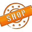 Stamp - SHOP - Stockfoto