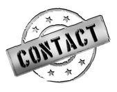 Razítko - kontakt — Stock fotografie