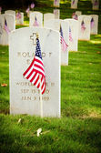 Flags decorate veterans cemetery for Memorial Day — Stock Photo