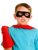 Child pretending to be a superhero — Stock Photo