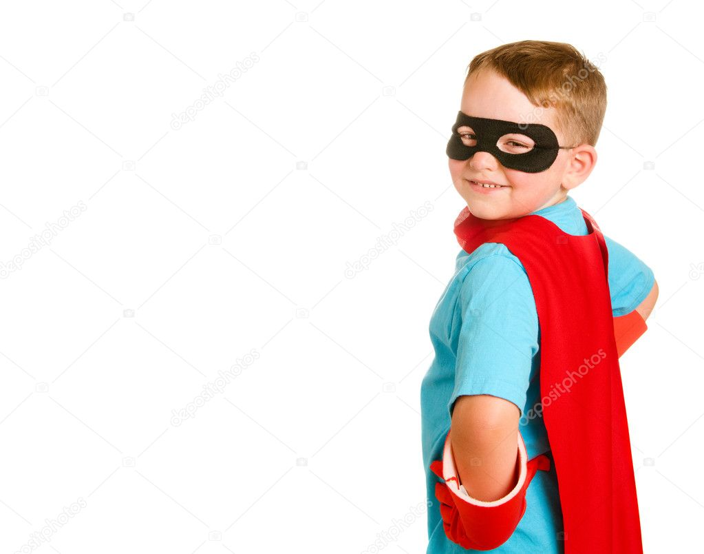 Child pretending to be a superhero — Stock Photo #10794684