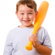 Smiling happy child with toy baseball bat — Stock Photo #11116108