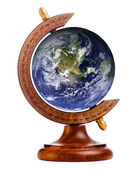 Image of planet earth on stand for antique globe, with elements of this image furnished by NASA — Stock Photo