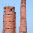 Stock Photo: Brick chimneys