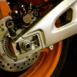 Stock Photo: Brake of motorcycle